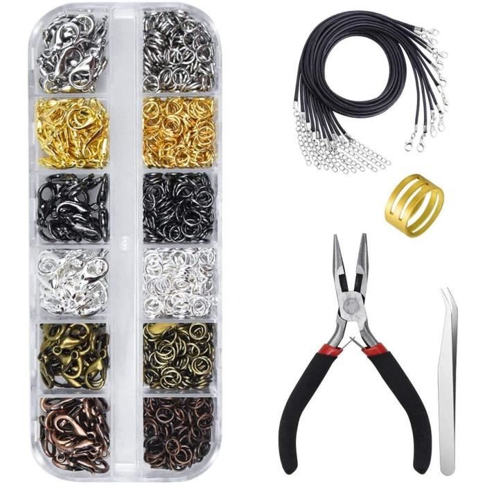 kissral Accessoires pour Bijoux DIY Kit Fabrication de Bijoux avec Boîte Plastique pour Débutants Création Manuelle Fabrication Bijo