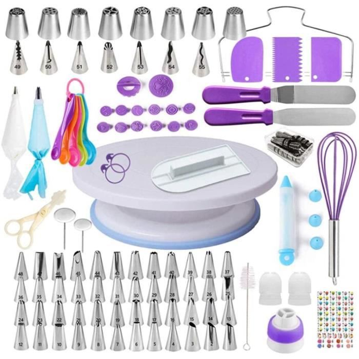 CAKE Decorating Equipment137Piece Cake Decorating Supplies Baking Toolswith Cake Turntable StandCake ScrapersPiping Nozzles an923