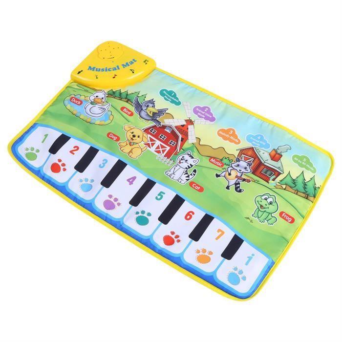 Idalinya Bébé Tapis De Musique Enfants Rampant Piano Tapis Éducatif Jouet Musical Enfants Cadeau