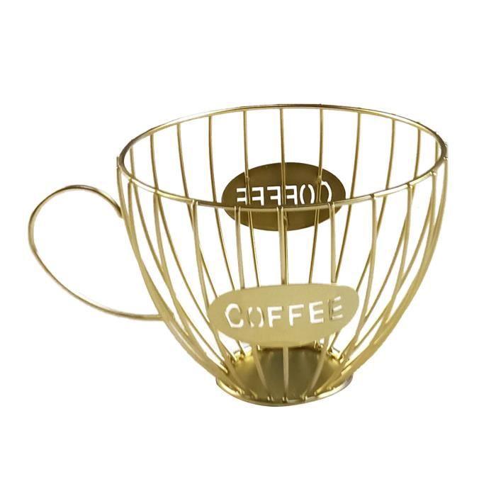 scourse®Porte-gobelet en forme de tasse Porte-dosettes café Organisateur stockage pour comptoir à Set Accessoires Salle De Bain