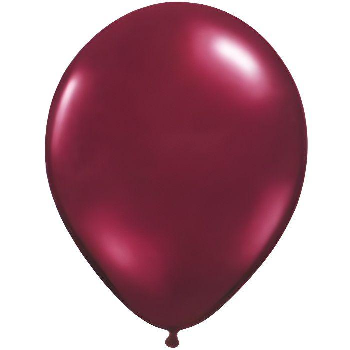 20 Ballons 100 % Latex Nacrés - 30 cm - Bordeaux