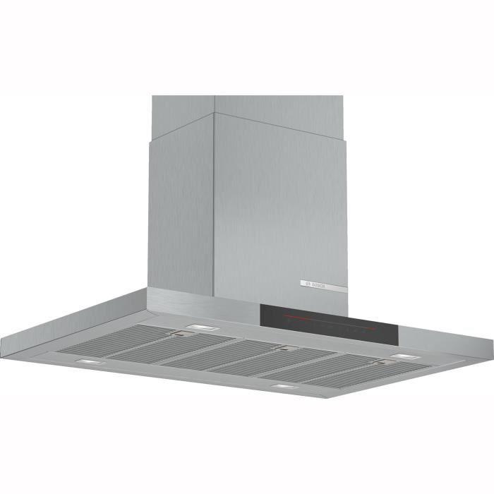Bosch - hotte îlot box 90cm 867m3-h a+ inox - dib98jq50