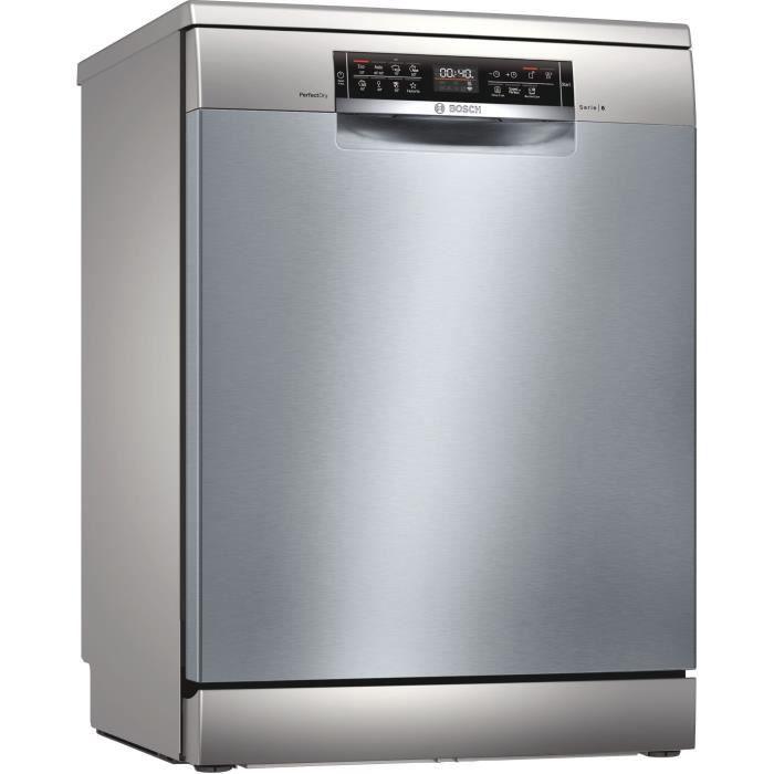 Lave-vaisselle pose libre BOSCH SMS6ZCI48E Série 6 - 14 couverts - Induction - L60cm - 42dB - Inox