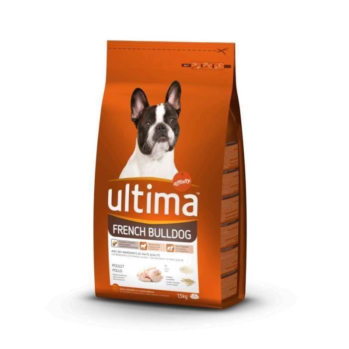 ULTIMA Croquettes French Bulldog au Poulet - Pour Chien - 3 x 1,5 kg