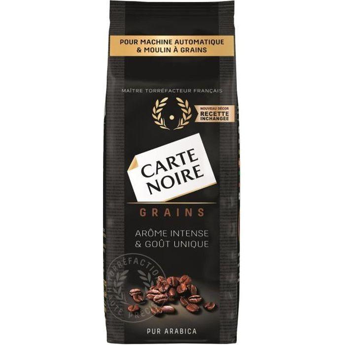 LOT DE 4 - CARTE NOIRE Café en grains Pur Arabica - Paquet de 250 g