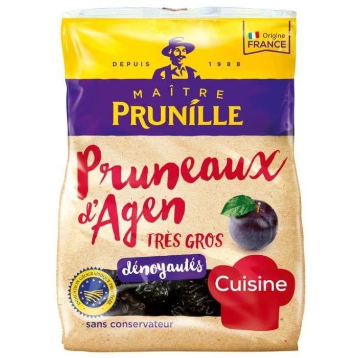 MAITRE PRUNILLE Pruneaux d'Agen dénoyautés - Très gros 44/55 - 1 kg