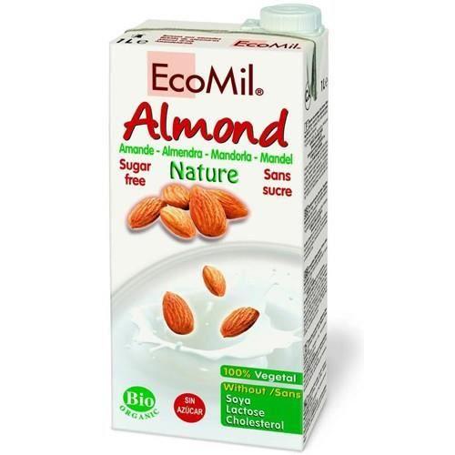 ECOMIL Org amande boisson sans sucre ajouté 1000ml