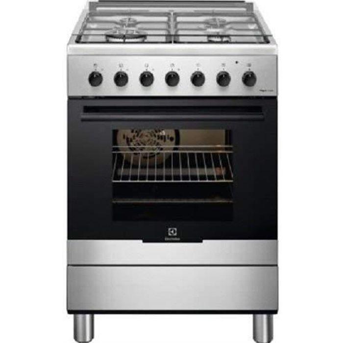 Electrolux RKK61380OX cuisinière à gaz avec finition en acier inoxydable de 60 cm