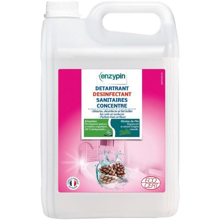 Détartrant ECOCERT - désinfectant sanitaires concentré - 5L