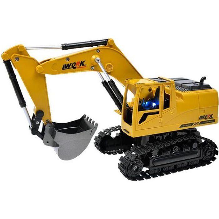 Enfant Excavateur Radiocommandé Camion Engin de Chantier Jouet de Construction 1:24