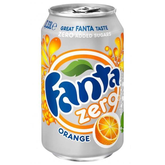 Fanta Orange Zéro 33cl (pack de 24)