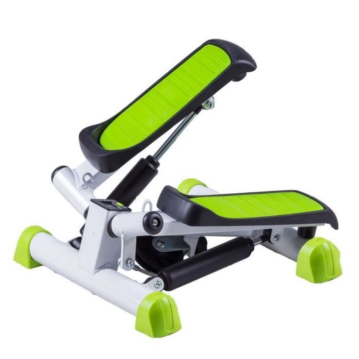 MSTORE - Stepper twister avec extenseurs - 23x40x40 - Intensité réglable - Ordinateur - Sport - Vert