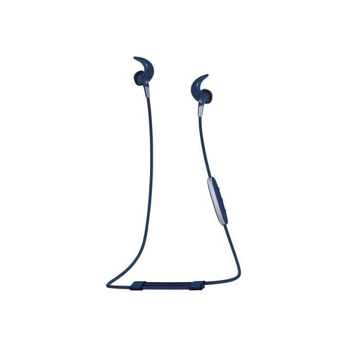 Jaybird Freedom 2 Écouteurs avec micro intra-auriculaire Bluetooth sans fil isolation acoustique bleu acier