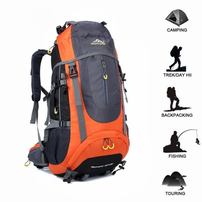 70L tactique sac à dos étanche voyage randonnée sac à dos en plein air camping sac à dos trekking escalade sac de sport équipement