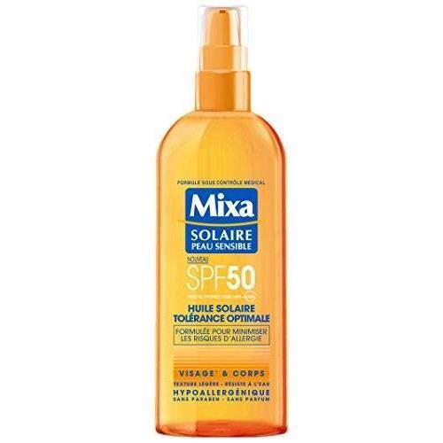 MIXA - Huile Solaire Spray - Tolérance Optimale SPF 50 - 200ml