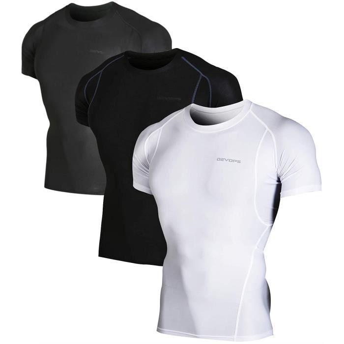 Sweatshirt ATQN8 23 Cool Pack Athletic Dry manches courtes Compression Baselayer T-shirts d'entraînement Taille-XL