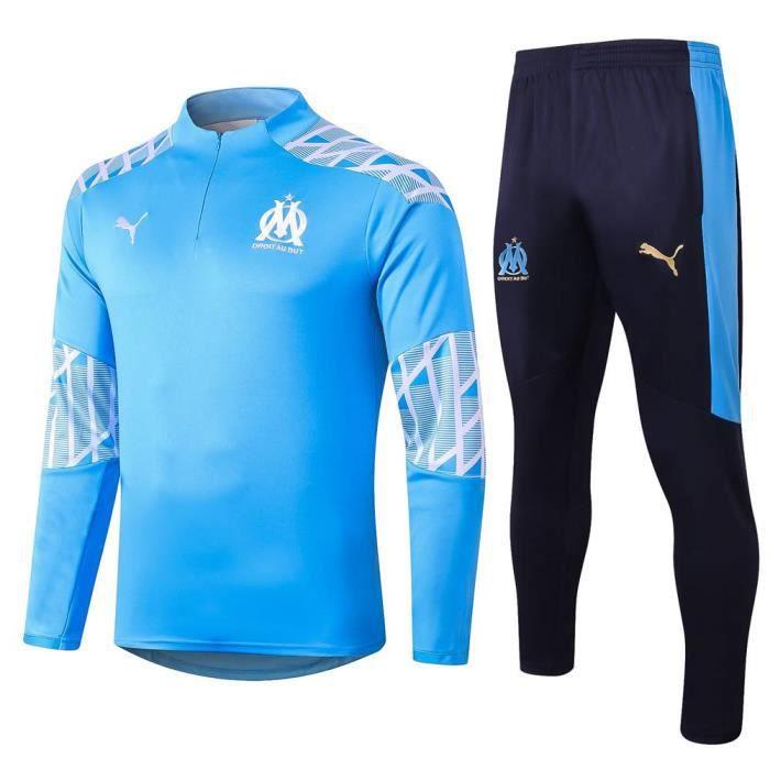 Maillot OM Olympique de Marseille - Maillot Foot Enfants Garçon Homme 2020-2021 Survêtements Foot Maillot de Foot(Haut + Pantalon)