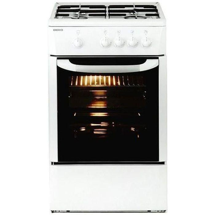 Plaques de cuisson Joli cuisiniere a gaz beko 165510 csg 42009 dw 9500w 50 cm blanc
