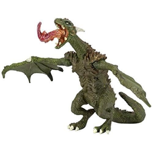 NOUVEAU - Dragon vert articulé - Figurine Papo 36006