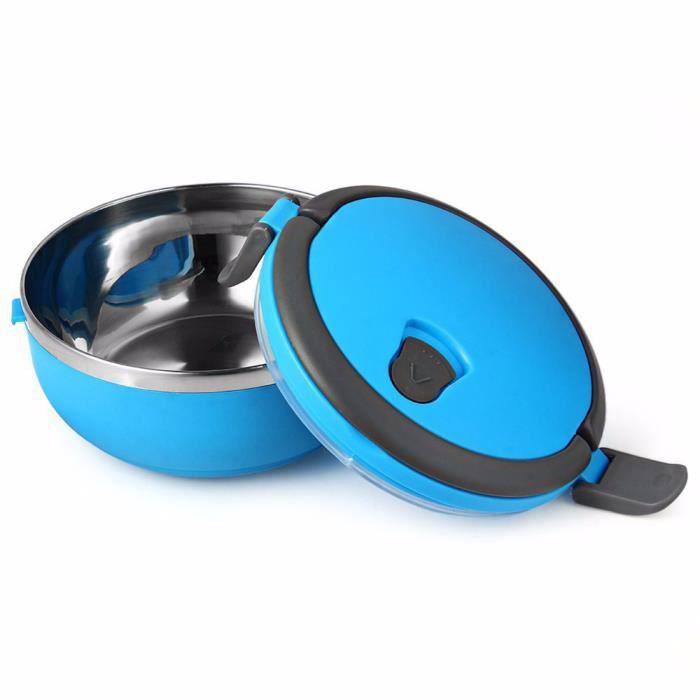 Thermos moderne boîte à lunch en acier inoxydable pour les enfants thermiques boîte alimentaire portables bleu