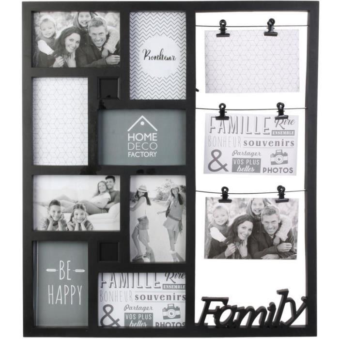Pêle-mêle design Family - 11 Photos - Noir