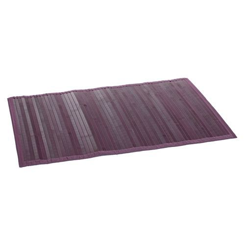 tapis color en bambou 60 x 90 cm violet achat. Black Bedroom Furniture Sets. Home Design Ideas