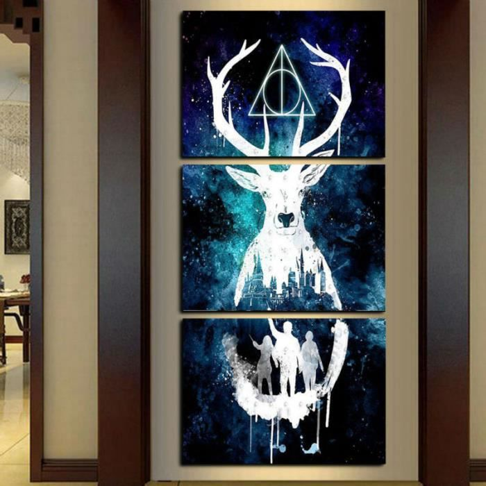 Harry potter cerf affiche moderne maison d coration murale for Decoration maison harry potter