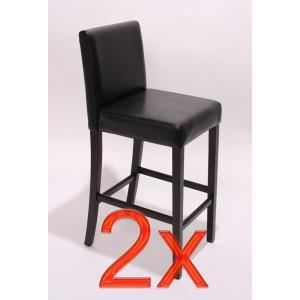 2 tabourets de bar chaise snack pu achat vente tabouret de bar pu bois cuir synth tique. Black Bedroom Furniture Sets. Home Design Ideas