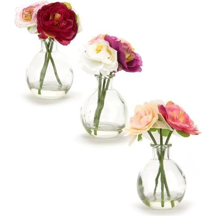 petit vase de fleurs artificielles achat vente vase soliflore cdiscount. Black Bedroom Furniture Sets. Home Design Ideas