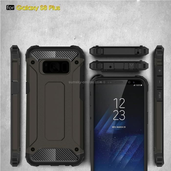 samsung galaxy s8 plus coque armor de protection anti choc haute qualit tough armor coffee. Black Bedroom Furniture Sets. Home Design Ideas