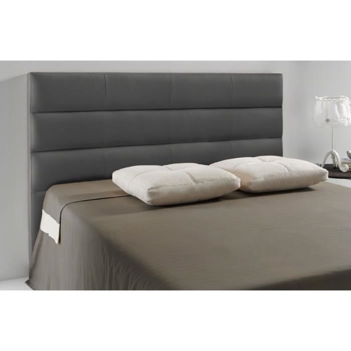 t te de lit pu extreme couleur gris fonc mesure. Black Bedroom Furniture Sets. Home Design Ideas