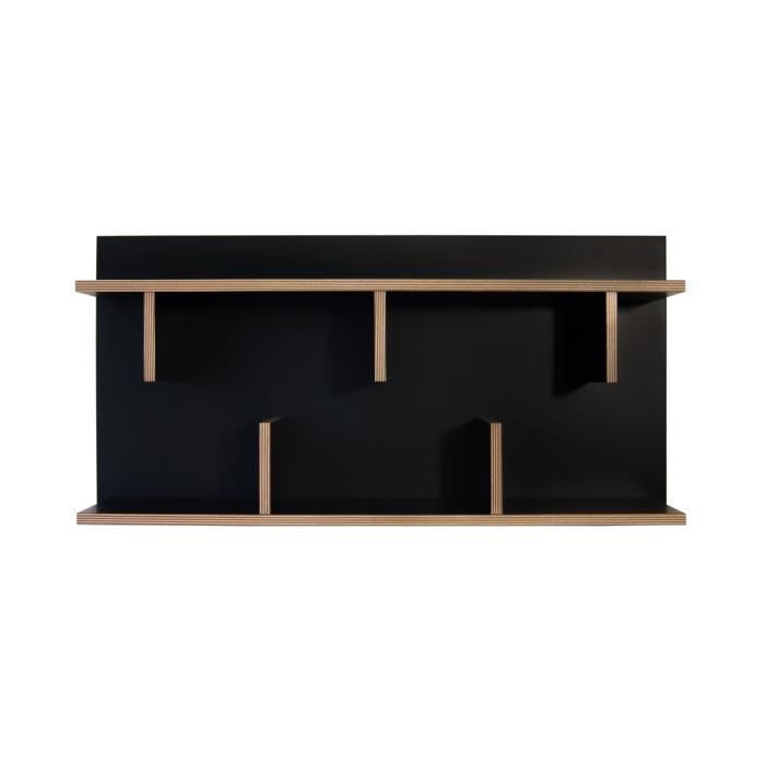 etagere murale bern 90 cm noir achat vente meuble. Black Bedroom Furniture Sets. Home Design Ideas