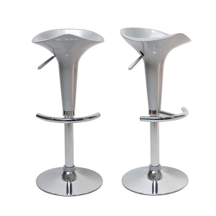 Tabouret blanc design galaxie - Tabouret de bar contemporain ...