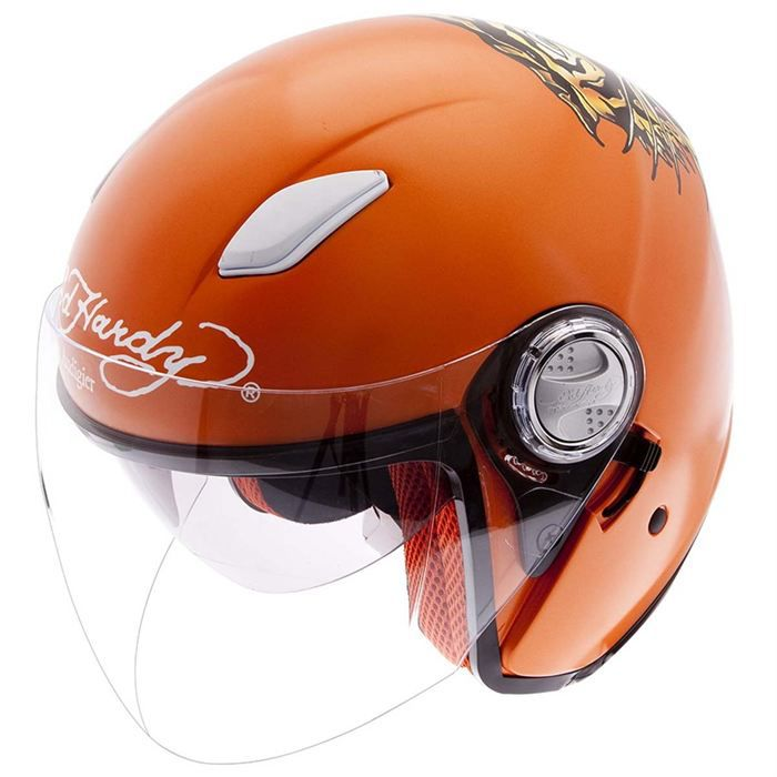 ed hardy casque jet tiger orange achat vente casque moto scooter edhardy casquejet tiger. Black Bedroom Furniture Sets. Home Design Ideas