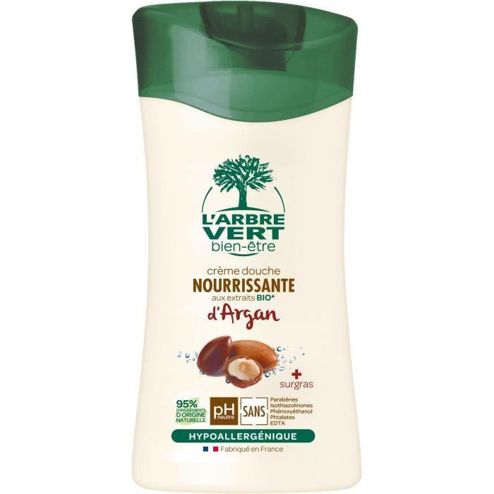L'ARBRE VERT gel douche éco avec argan bio français fl 250 ml
