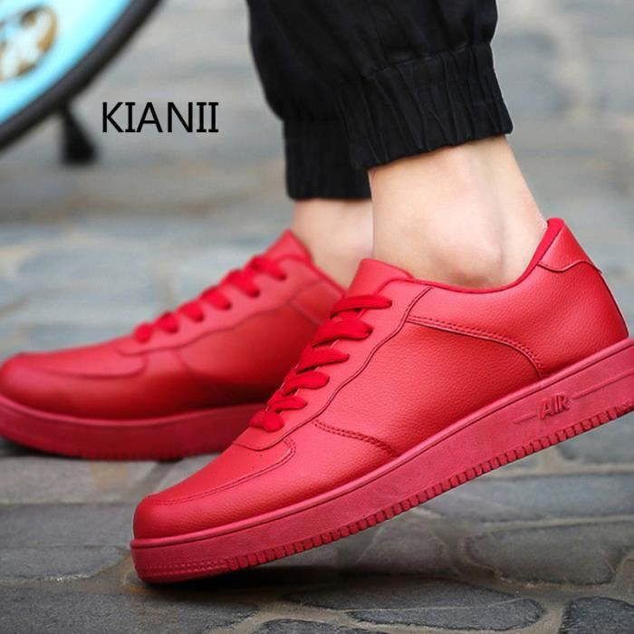 KIANII® Hommes Chaussures MOCASSINS Skate Rouge