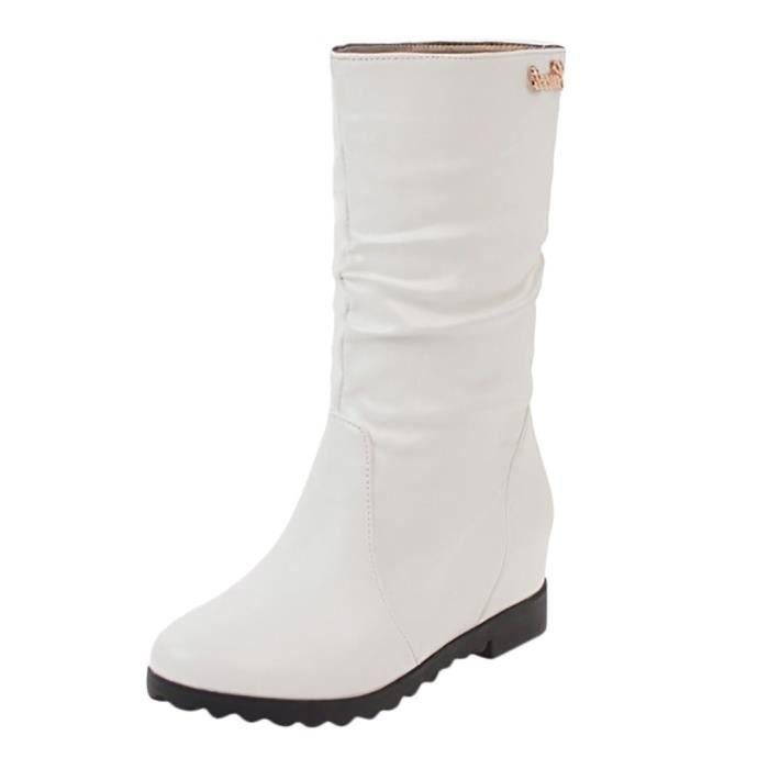 Augmentation de la mode féminine dans les bottes de grande taille creux et strass pour étudiants LYH90710416BK35_YOU