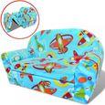 Chaise longue pliable pour enfants Motif avec avions Bain de soleil