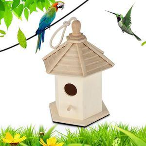 Bn traditionnel en bois nichoir petit oiseau nid maison neuve envoi gratuit