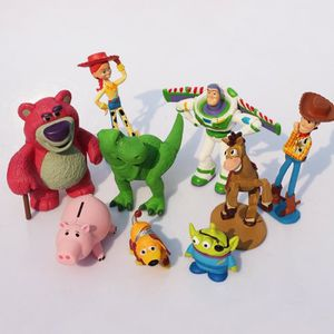 FIGURINE - PERSONNAGE 1 Ensemble = 9 pcs Jouet Story Buzz lightyear Wood