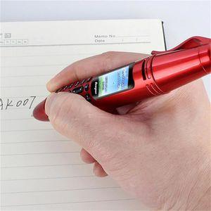 Téléphone portable Pen Mini portable GSM SIM double caméra lampe de p