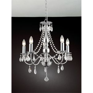 LUSTRE ET SUSPENSION Lustre en cristal traditionnel finitions chrome