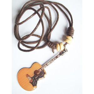 Collier avec Pendentif guitare Gibson d/'Elvis Presley