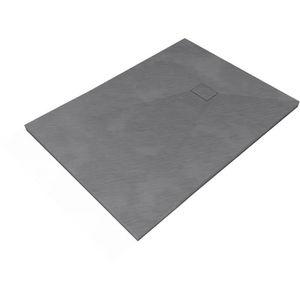 RECEVEUR DE DOUCHE AURLANE receveur stone 2 gris 80x120 / grey stone