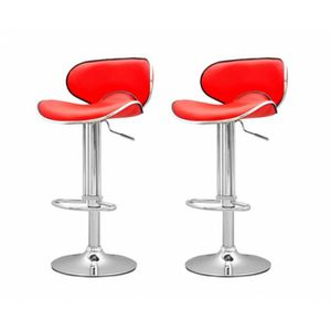 tabouret de bar rouge x2 elite. Black Bedroom Furniture Sets. Home Design Ideas