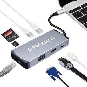 ADAPTATEUR AUDIO-VIDÉO  cabledeconn USB C HDMI 4K VGA Adapter Thunderbolt