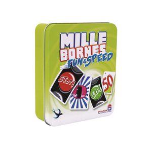 CARTES DE JEU MILLE BORNES Fun and Speed boîte métal