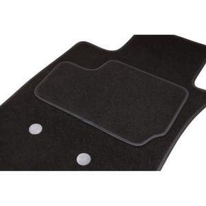sur mesure tapis de voiture noir avec bordure rouge PEUGEOT 5008 2010