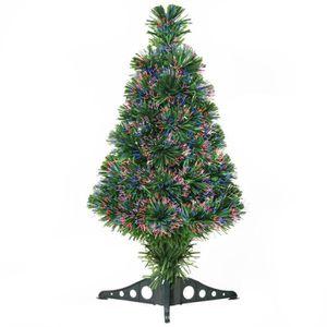 SAPIN - ARBRE DE NOËL Sapin de Noël artificiel lumineux fibre optique mu