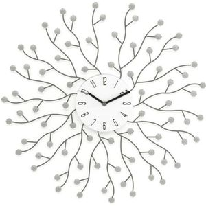 Chambre Jo332Bertram Horloge Murale Vintage Pendule Murale en M/étal Style Silencieuse Murale D/écoration pour Salon Bureau Caf/é diam/ètre 60cm Bar